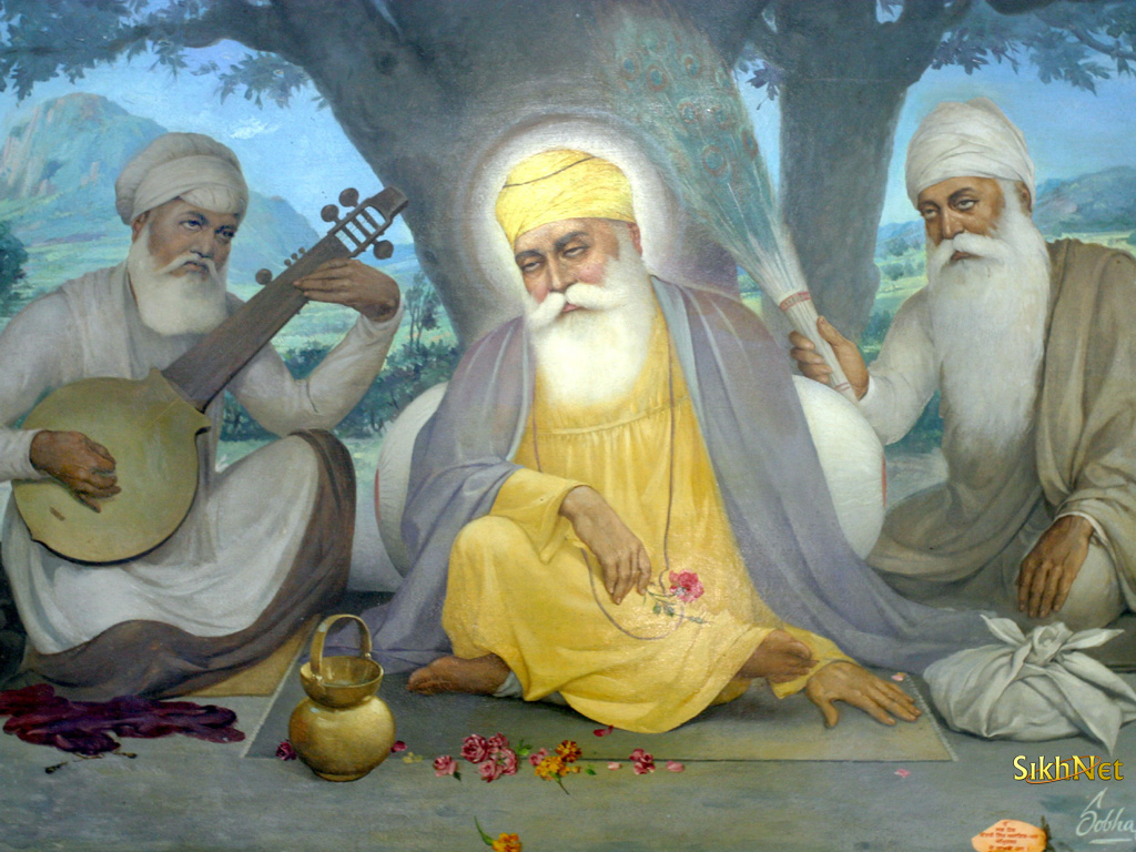 Guru Nanak Dev Ji with Bhai Mardana and Bhai Bala