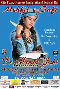 Dr. Mamta Joshi, Canada Tour
